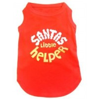 Santas Little Helper Dog Tshirt